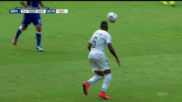 Mario Balotelli Jumps Over A Guy, Knees Him In The Head In The Process