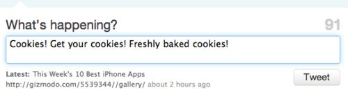 Follow Us On Twitter And Get Freshly Baked Cookies*