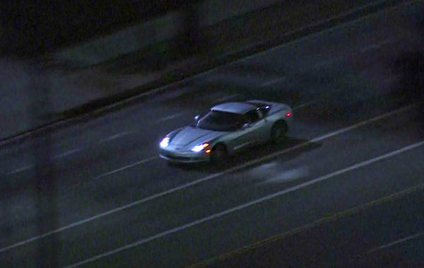 Corvette C6 chased by LAPD ends w/ violent crash, shooting: VIDEO