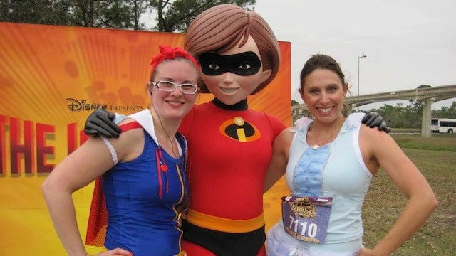 Princess and Wonder Woman running outfits are magical and sweat-proof