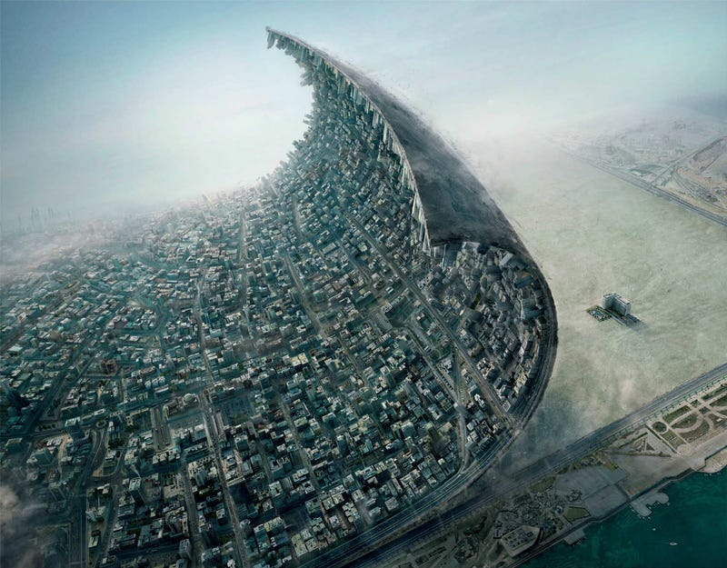 What would it look like if you could peel a city off Earth's crust?