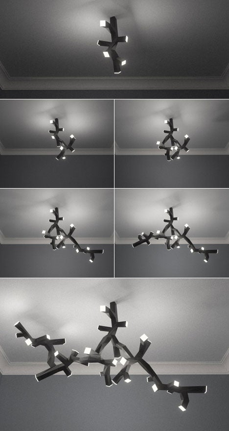 LED Branch Light Lets You Add As Much or Little Fixture as You Want