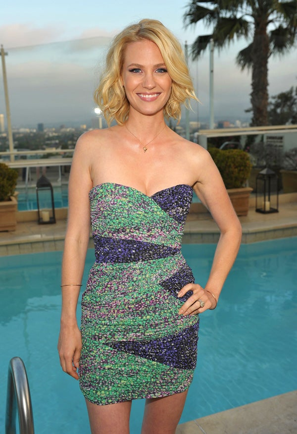 January Jones Tries to Explain Away the Weirdness of Her Car Crash
