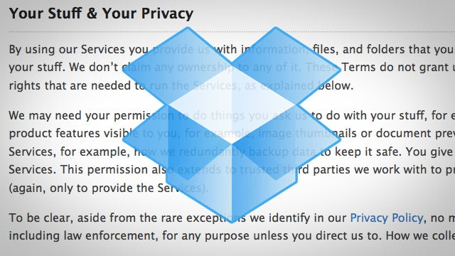 Dropbox Adds Forced Arbitration to Its Terms of Service, Opt Out Here