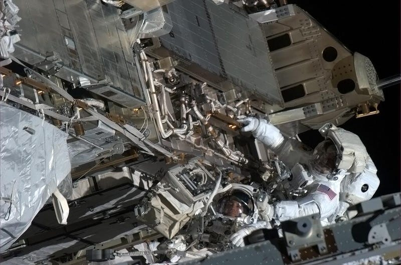 The Photos From Today's Emergency Spacewalk Are Totally Awe-Inspiring