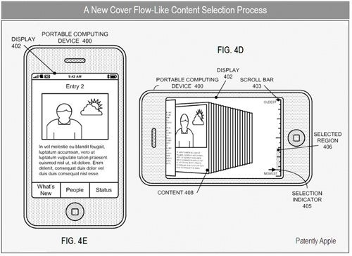 Apple Patent For Cover Flow-Like Social Networking Profiles Emerges