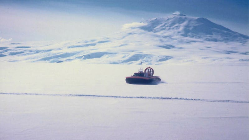 They Used To Use Hovercraft To Slide Across The Antarctic Desert