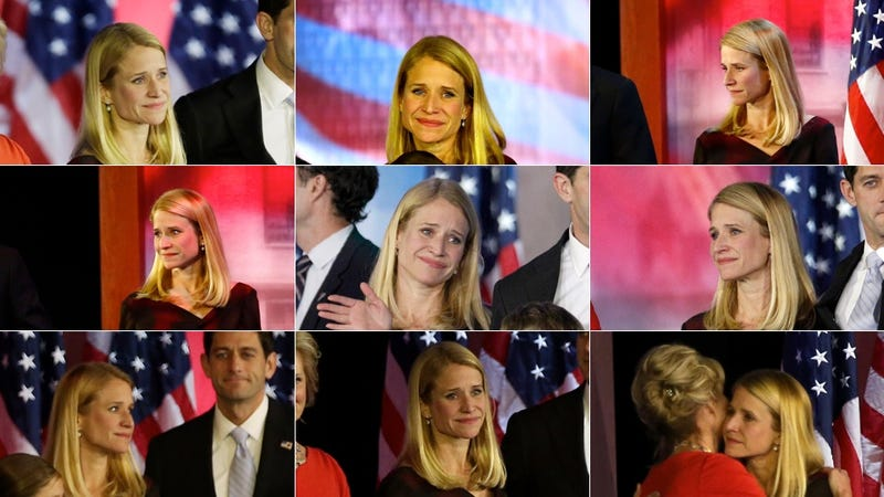 The Saddest Sad Faces in the World: A Janna Ryan Election Night Mosaic