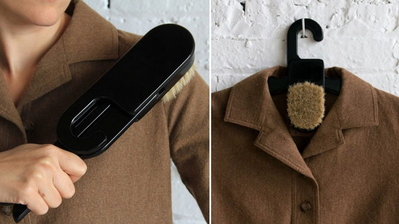 Hanger Brush Keeps Your Blazer Looking Spiffy