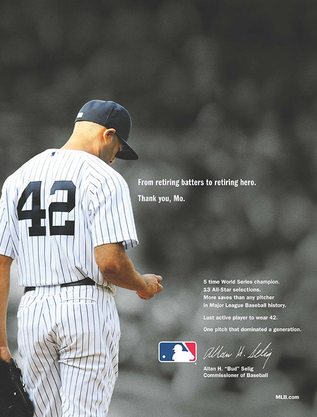 MLB Takes Out Full-Page Newspaper Ads To Honor Mariano Rivera
