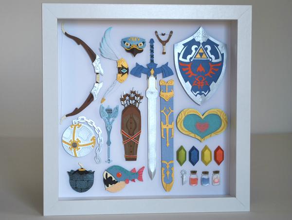 Legend Of Zelda Papercraft Armory