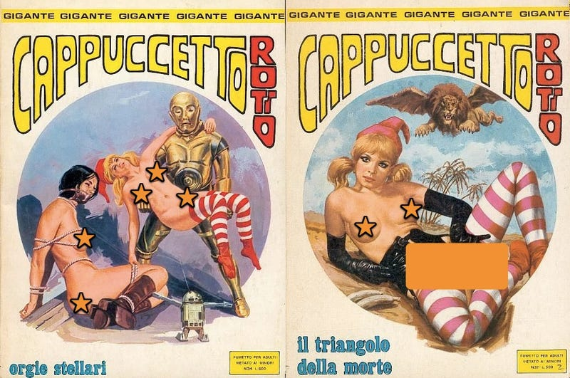 Behold a 1970s Italian comic depicting an orgy starring C-3PO and R2-D2
