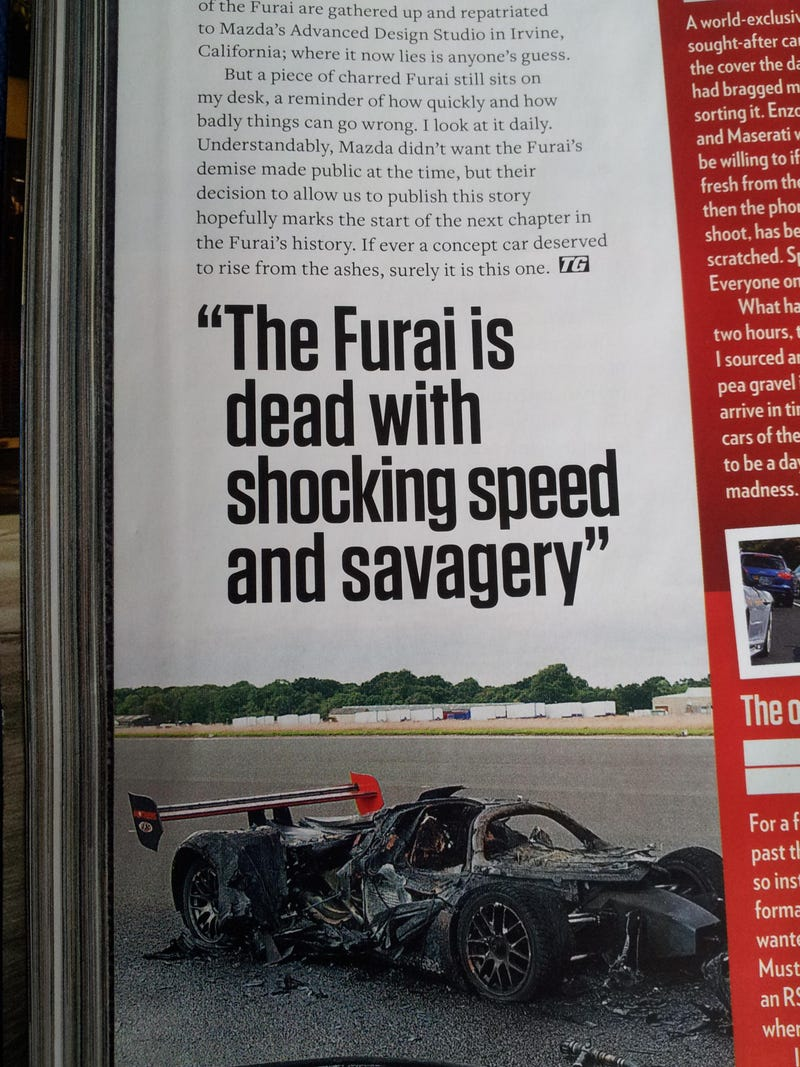 The Mazda Furai Burned To Death In 8 Minutes, Hidden From Help