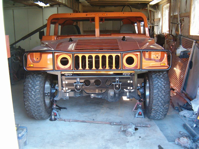Man Hand-Building Hummer H1 From Ford Scraps
