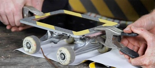 iPad Forges Second Career As Skateboard