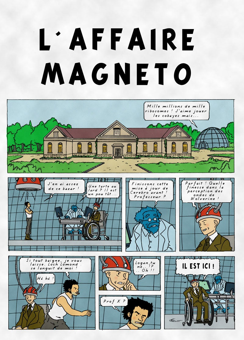 What if Tintin author Hergé wrote X-Men comics?