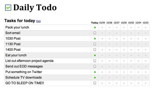 Daily Todo Is a Simple To-Do Manager for Recurring Tasks