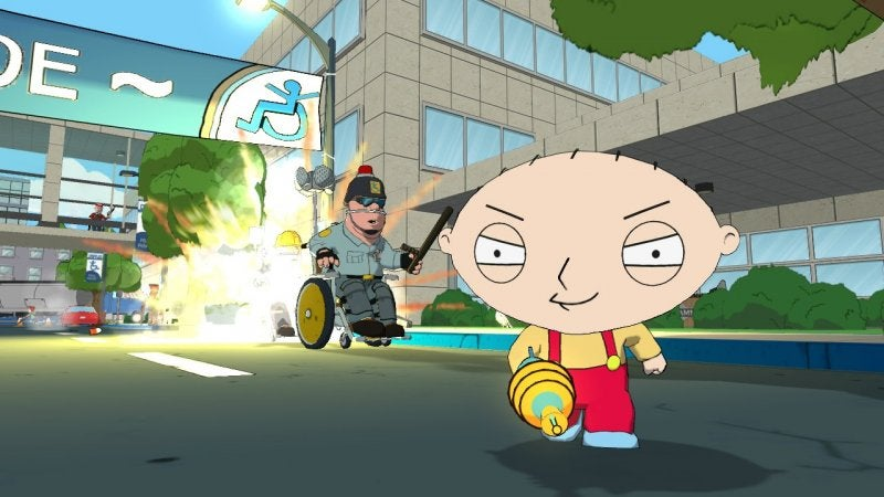Stewie Terrorizes Frat Boys in These Family Guy Video Game Screen Shots