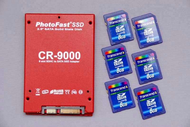 Adapter Uses Six SDHC Cards For Voltron-Like DIY SSD Drive