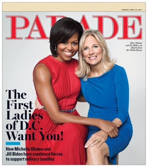 Michelle Obama and Jill Biden Being Radiant on Cover of Parade