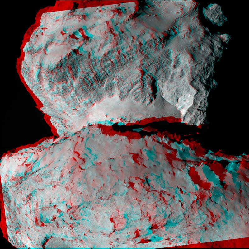 Here's The First 3D Picture of Rosetta's Comet!