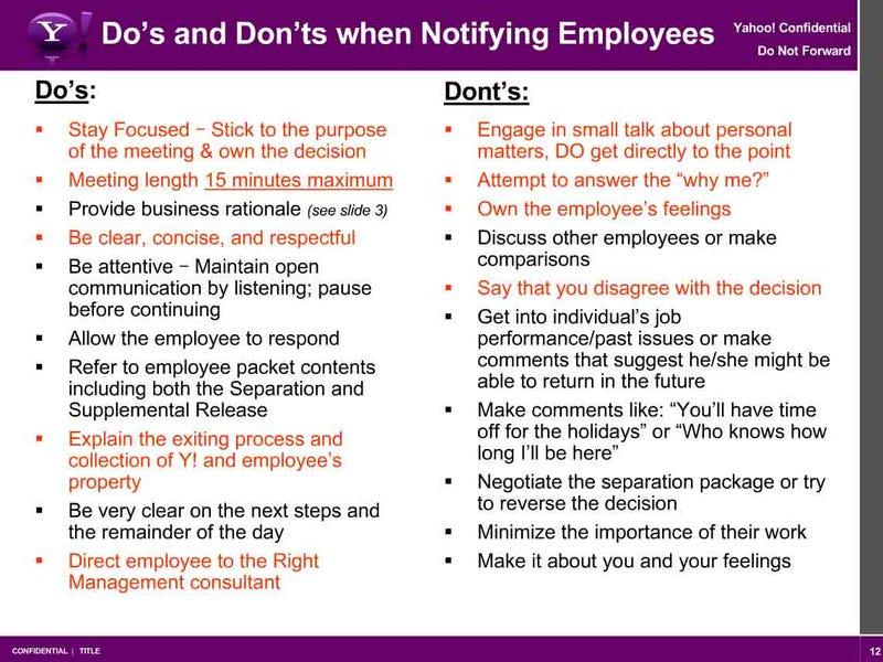 Yahoo's secret layoff doublespeak revealed!