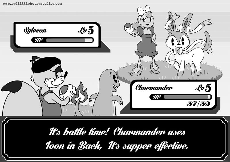 Street Fighter As A Black-and-White Disney Cartoon