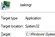 Start Windows Task Manager in the Tray