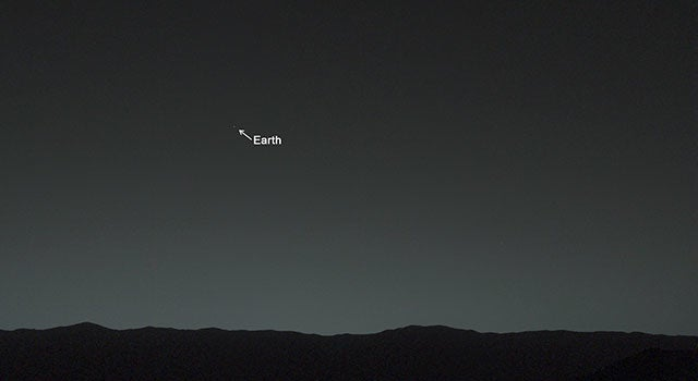 Here is what Earth looks like from Mars