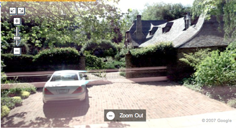 Steve Jobs' House, SL65 in Driveway, on Google Street View