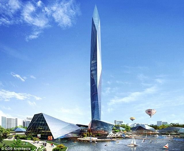 A 1,476-foot tower equipped with its very own cloaking device