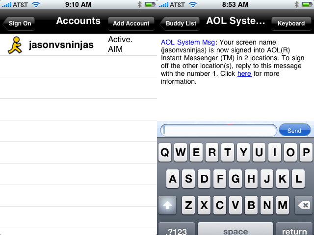 First Native iPhone AIM Client Released, Kinda Sucks