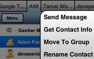 Agile Messenger Brings Tabbed IM
