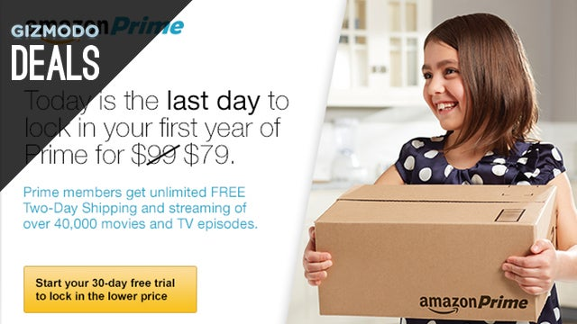 Today's Your Last Chance to Get Amazon Prime for $79