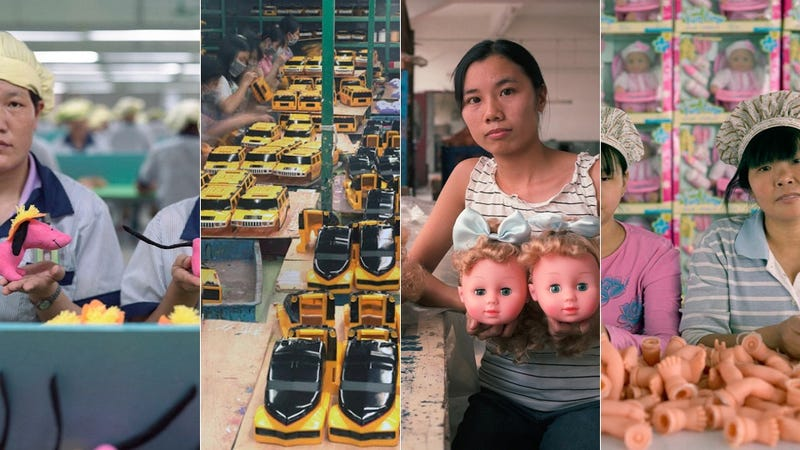 Sad Chinese Factory Workers Photographed with the Cheap Things They Build