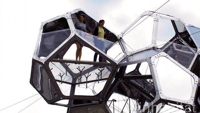 Cloud City: A Spectacular Sculptural Constellation of Mirrors and Steel