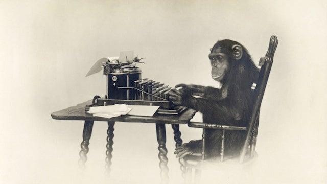 A Million Virtual Monkeys Randomly Mashing Typewriters Have Almost Written Shakespeare