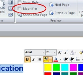 Turn Off the Magnifier to Edit in Word 2007's Print Preview Mode
