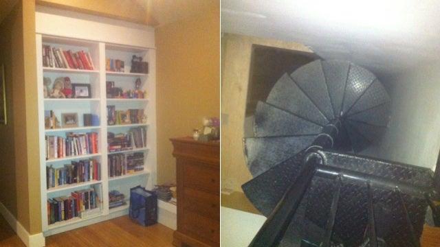 A secret room behind a bookshelf is cool until a stranger lives inside