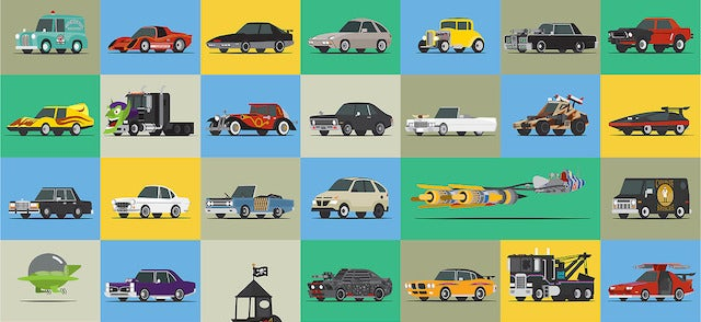 How many of these famous movie and TV cars can you recognize?