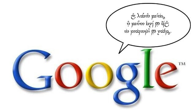 Whaddya Mean Google Can't Translate Pages into Elvish?