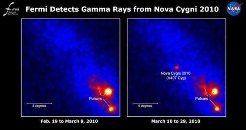 """White dwarf nova explosion emits """"shocking"""" burst of gamma rays"""