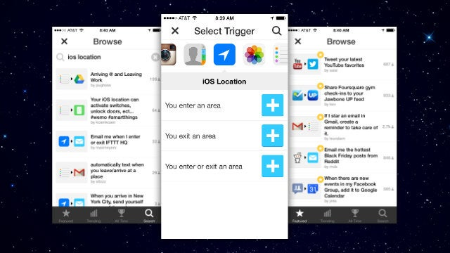 IFTTT for iPhone Adds a New Location Channel