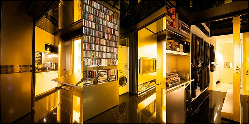 Hong Kong Architect Turns 344-Square-Foot Space into Ultimate Transformer Apartment