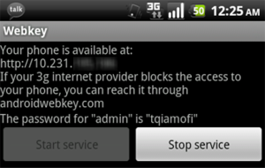 Webkey Remotely Accesses Your Rooted Android Phone