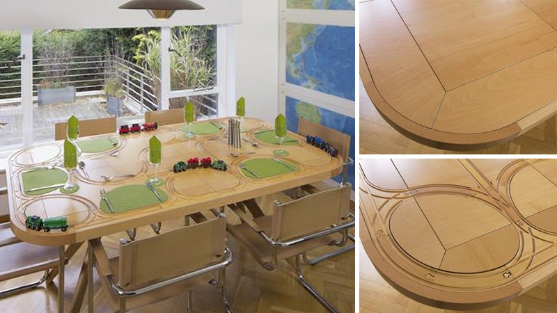 Wooden Train Dining Table Redefines Playing With Your Food