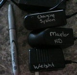 Use a Metallic Sharpie for Easy Cord Labeling