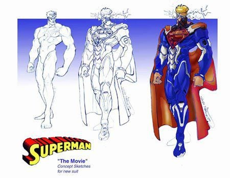 Toy concept art for Tim Burton's scrapped Superman movie is like design Kryptonite