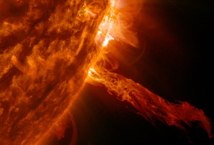A giant dragon just emerged from the Sun
