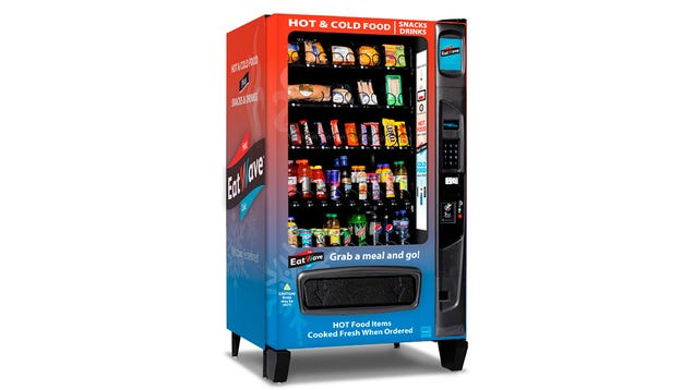 Microwave Vending Machine Serves Up Hot and Cold Snacks